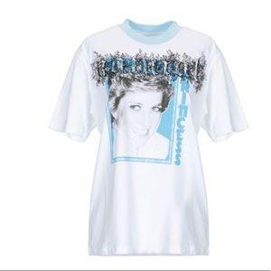 Off-White Main Label Princess Diana T-shirt/White